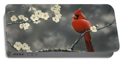 Cardinal And Blossoms Portable Battery Charger
