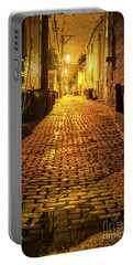 Chicago Alley At Night Portable Battery Charger