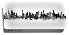 Chicago And Los Angeles Skylines Mashup Portable Battery Charger