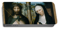 Christ Crowned With Thorns, And The Mourning Virgin Portable Battery Charger