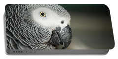 Close Up Of An African Grey Parrot Portable Battery Charger