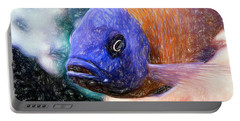 Colored Pencil Red Fin Borleyi Cichlid Portable Battery Charger
