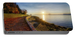 Colorful Autumn Sunrise At Stanley Park Portable Battery Charger