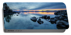 Colorful Sunset At Sand Harbor Portable Battery Charger