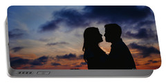Couple With Cloud Sky Backlight Portable Battery Charger