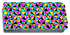 Crazy Psychedelic Art In Chaotic Visual Color And Shapes - Efg22 Portable Battery Charger