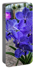 Deep Purple Orchid Portable Battery Charger