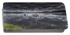 Early Morning Clouds And Reflections On The Bay Portable Battery Charger
