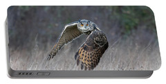 Eurasian Eagle Owl Flying Portable Battery Charger