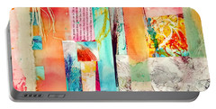 Portable Battery Charger featuring the painting Evermore by Tracy Bonin