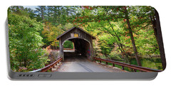 Fall Colors Over The Babs Covered Bridge Portable Battery Charger