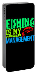 Fishing Is My Anger Management 2 Portable Battery Charger