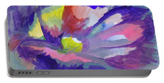 Portable Battery Charger featuring the painting Flowering Abstract 3 by Dobrotsvet Art