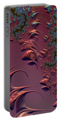 Fractal Playground In Pink Portable Battery Charger