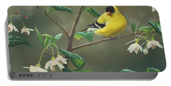 Goldfinch And Snowbells Portable Battery Charger
