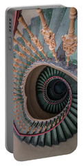Green Spiral Staircase Portable Battery Charger