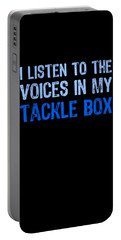 I Listen To Voices In My Tackle Box Blues Portable Battery Charger