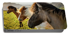 Icelandic Horses Portable Battery Charger