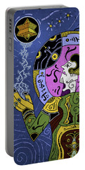 Portable Battery Charger featuring the digital art Incal by Sotuland Art