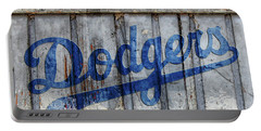 La Dodgers Rustic Portable Battery Charger