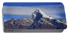 Portable Battery Charger featuring the photograph Machapuchare Mountain Fishtail In Himalayas Range Nepal by Raimond Klavins