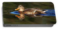 Portable Battery Charger featuring the photograph Mallard Duck by Sue Harper
