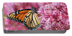 Portable Battery Charger featuring the photograph Monarch Butterfly by Debbie Stahre