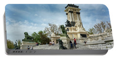 Monument To Alfonso Xii - Retiro Park, Madrid, Spain Portable Battery Charger