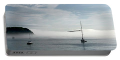 Morning Mist On Frenchman's Bay Portable Battery Charger