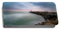 Oceanside Harbor Jetty Sunset Portable Battery Charger