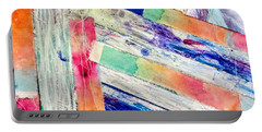 Portable Battery Charger featuring the painting Out Of Site, Out Of Mind by Tracy Bonin