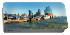 Panoramic View Of Hamburg. Portable Battery Charger