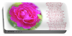 Pink Rose And Song Lyrics Portable Battery Charger