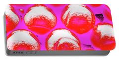 Pop Art Tennis Balls Portable Battery Charger