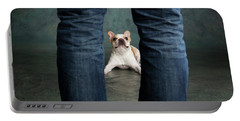 Portrait Of A French Bulldog Portable Battery Charger
