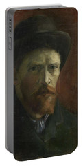 Self-portrait With Felt Hat Portable Battery Charger