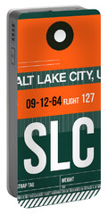Slc Salt Lake City Luggage Tag II Portable Battery Charger