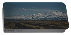 Snow-covered Mountains In The Turkish Region Of Capaddocia. Portable Battery Charger
