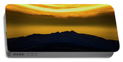 Portable Battery Charger featuring the photograph Sunset Over The Rockies by Philip Rispin