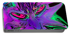 Super Duper Crazy Cat Purple Portable Battery Charger