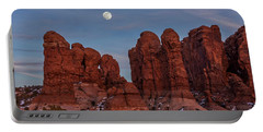 Super Moonrise At Garden Of Eden Portable Battery Charger