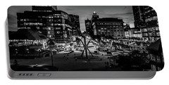 Portable Battery Charger featuring the photograph The Calling At Blue Hour by Randy Scherkenbach
