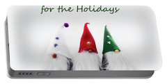 Three Holiday Gnomes 2a Portable Battery Charger