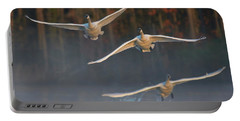 Trumpeter Swan Trio Flying, Magness Portable Battery Charger
