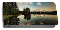Two Jack Lake And Mount Rundle Portable Battery Charger