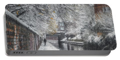 Winter In Gas Street Portable Battery Charger