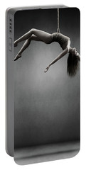 Woman Hanging On A Rope Portable Battery Charger