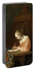 Woman Writing A Letter Portable Battery Charger