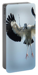 Portable Battery Charger featuring the photograph Woodstork Nesting by Donald Brown