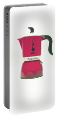 10-05-19 Studio. Red Cafetiere. Portable Battery Charger